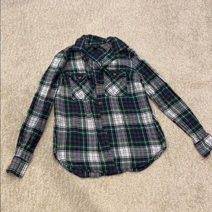 J.Crew flannel button down top size 0.